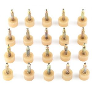 Anddas 10pairs Beige High Heel Tips Shoe Stiletto Sole Repair Dowel Pin Replacement Taps